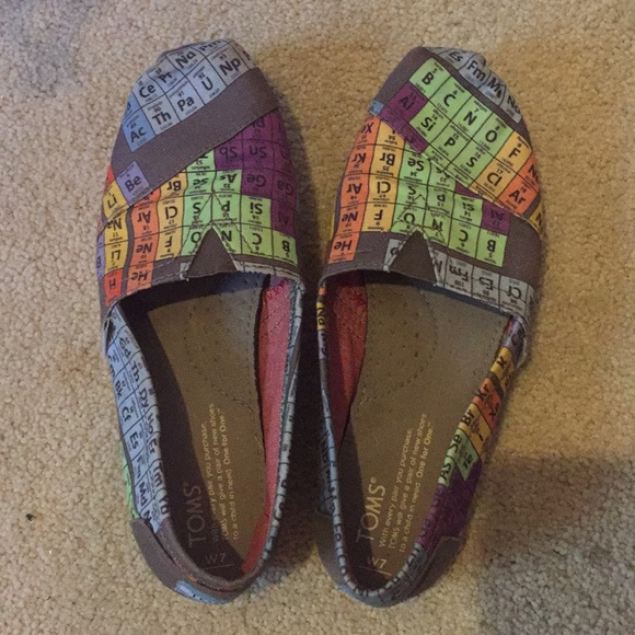 Toms shoes periodic table of elements poshmark periodic table of elementstoms urtaz Choice Image
